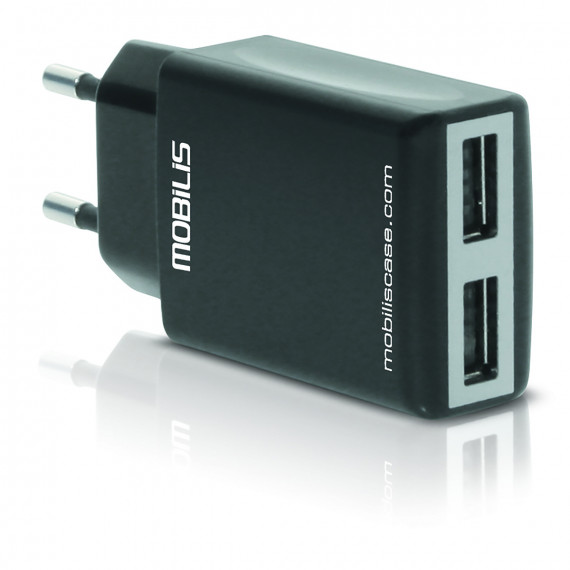 Adaptateur secteur / Chargeur 2 ports USB 2,1A pour smartphones