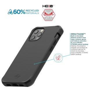 antimicrobial rugged case for iphone 12/ iphone 12 pro made from recycled materials