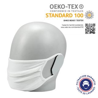 masque textile grand public filtration garantie 20 lavages certifié eoko-tex standard 100