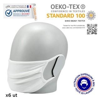 masque textile grand public filtration garantie 20 lavages