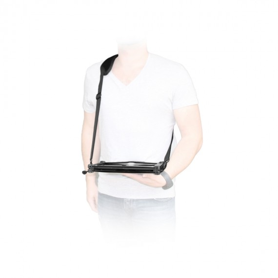 Transport and typing shoulder strap Ergo 2 attachment points