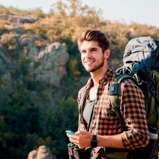 backpack belt / strap mount for smartphone