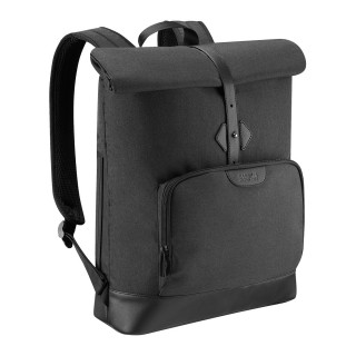"Pluriel Rolltop backpack 14-16"" with front pocket"
