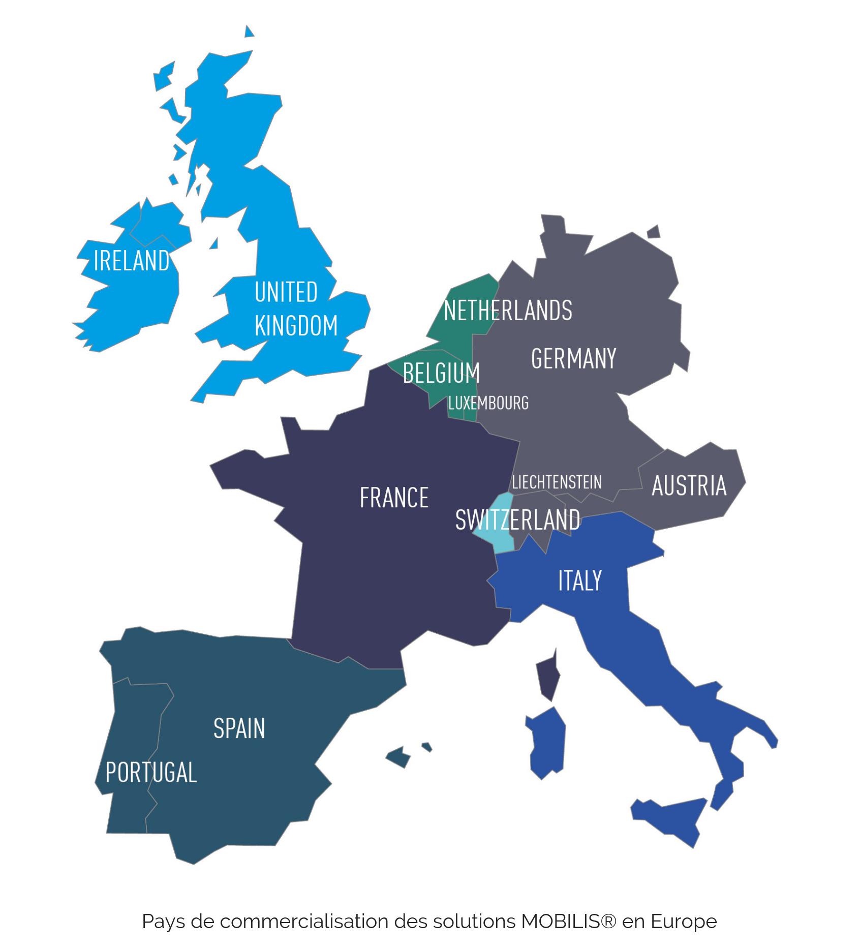 Carte Europe MOBILIS